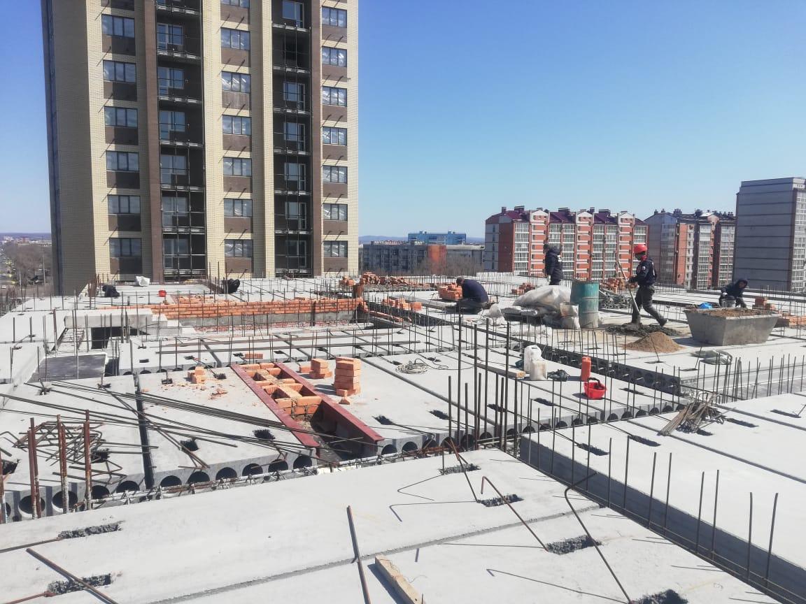 """Ход строительства: ЖК """"Адмирал""""  (вторая очередь), апреля 2020"""