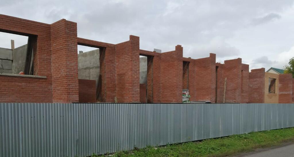 Ход строительства: с. Черниговка, Ленинская, д. 67-А, октябрь 2021